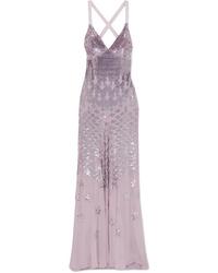 Robe de soirée pailletée violet clair Temperley London