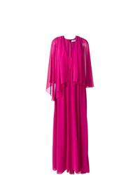 Robe de soirée plissée fuchsia MSGM