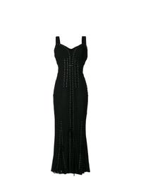 Robe de soirée plissée noire Dolce & Gabbana