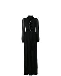 Robe de soirée plissée noire Gucci