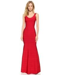 Robe de soirée rouge Herve Leger