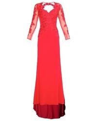 Robe de soirée rouge Mascara