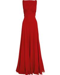 Robe de soirée rouge Saint Laurent