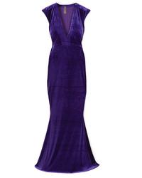 Robe de soirée violette Norma Kamali