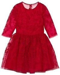 Robe de tulle rouge