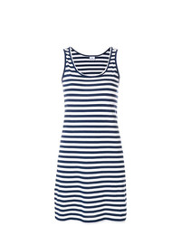 Robe débardeur à rayures horizontales bleu marine et blanc Ps By Paul Smith