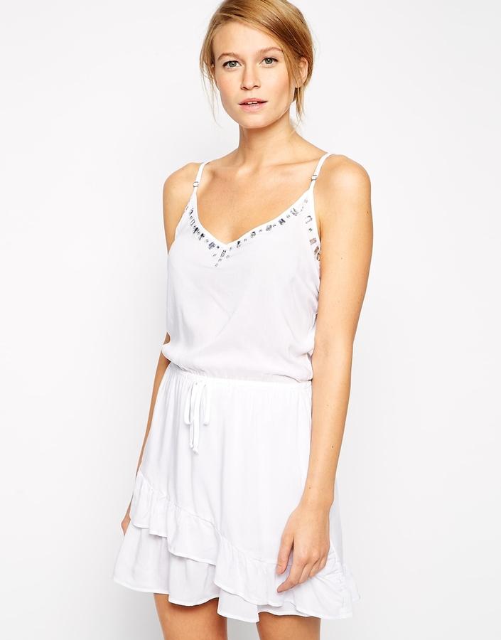 Robe débardeur blanche, €89 | Asos | Lookastic