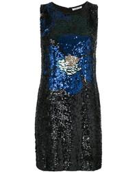 Robe débardeur pailletée ornée noire P.A.R.O.S.H.