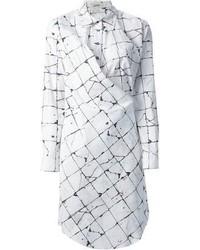 Robe décontractée à carreaux blanche et noire Jean Paul Gaultier