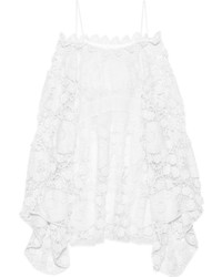 4681e60d5203b ... Robe décontractée en crochet blanche Chloé