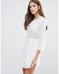 c35861af8ccb4 Comment porter · Robe décontractée en crochet blanche Liquorish