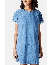 Robe décontractée en denim bleue