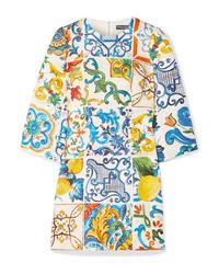 Robe décontractée imprimée multicolore Dolce & Gabbana
