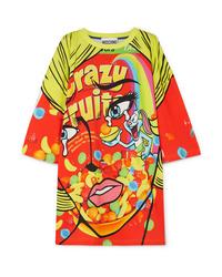 Robe décontractée imprimée multicolore Moschino