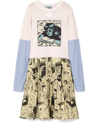 Robe décontractée imprimée multicolore Prada