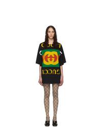 Robe décontractée imprimée noire Gucci