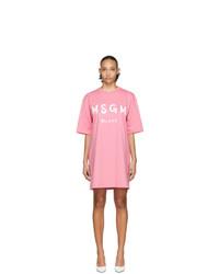 Robe décontractée imprimée rose MSGM