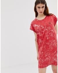 Robe décontractée imprimée tie-dye rouge Cheap Monday
