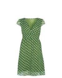 Robe décontractée imprimée verte