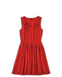 Robe décontractée plissée rouge