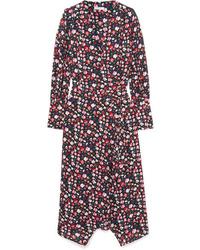 Robe drapée à fleurs bordeaux Equipment