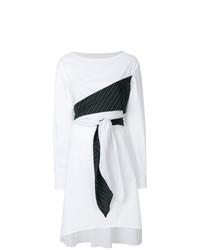Robe drapée blanche MM6 MAISON MARGIELA