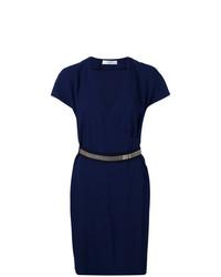 Robe drapée bleu marine Lanvin