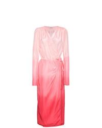 Robe drapée en soie ombre rose ATTICO