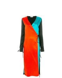 Robe drapée multicolore ATTICO