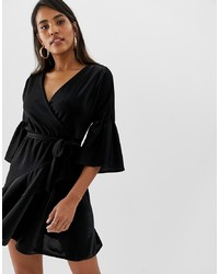 Robe drapée noire French Connection