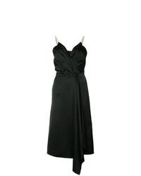 Robe drapée noire Victoria Beckham