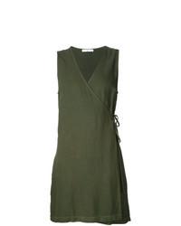 Robe drapée olive