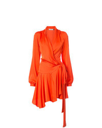 Robe drapée orange