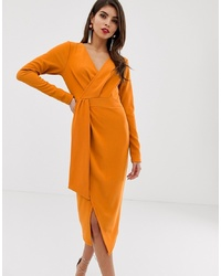 Robe drapée orange ASOS DESIGN