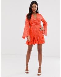 Robe drapée orange ASOS DESIGN
