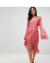 Robe drapée rose Vero Moda Tall