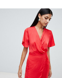 Robe drapée rouge Missguided
