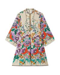Robe droite à fleurs multicolore Gucci