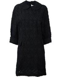 Robe droite à fleurs noire Comme des Garcons
