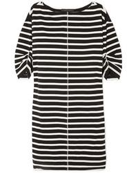 Robe droite à rayures horizontales blanche et noire Marc Jacobs
