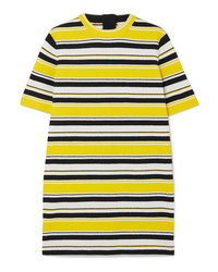 Robe droite à rayures horizontales jaune Marc Jacobs