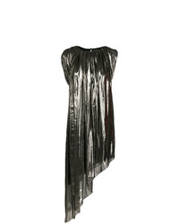 Robe droite argentée Lanvin