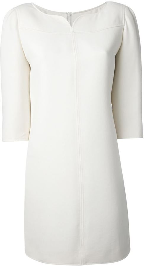 Robe Droite Blanche Courreges 1 001 Farfetch Com Lookastic France