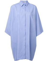 Robe droite bleu clair Jil Sander