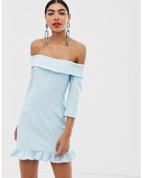 Robe droite bleu clair UNIQUE21