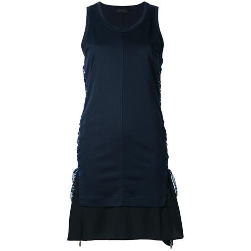 589f894d48f ... Robe droite bleu marine Diesel Black Gold ...