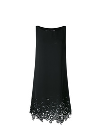 Robe droite brodée noire Love Moschino
