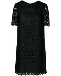 Robe droite brodée noire Moschino