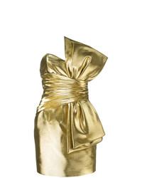 Robe droite dorée Saint Laurent