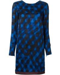 Robe droite écossaise bleue Kenzo
